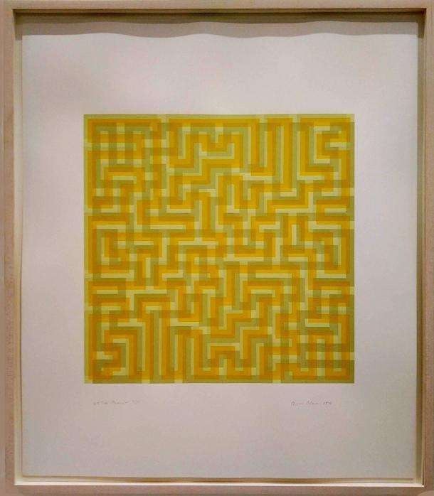 9 9991 anni albers meandre jaune 1970