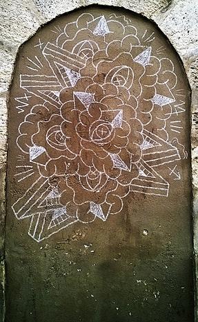 Craie fleur 1
