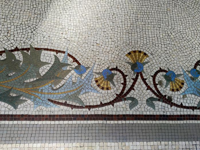 Mosaiques entree lycee italien leonardo da vinci